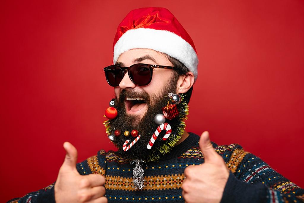 Santa im Sommer weihnachten im sommer