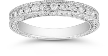 Floret Diamond Wedding Band