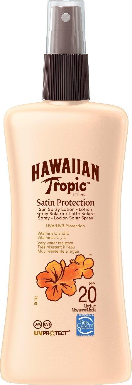 Hawaiian Tropic Satin Protection Sun Spray Lotion LSF 20, 200 ml