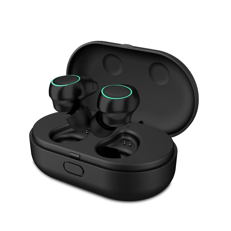 HolyHigh Bluetooth Kopfhörer Bluetooth Headset Stereo-Minikopfhörer Kopfhörer in Ear mit Ladekästchen und integriertem Mikrofon für Android und iPhone