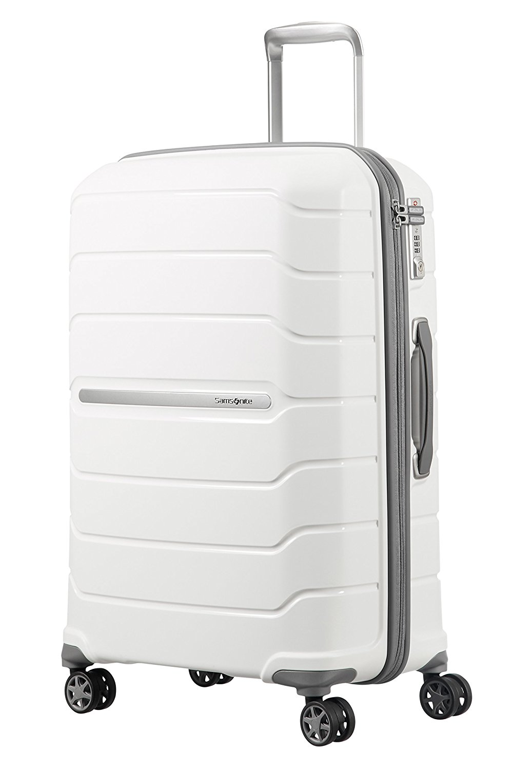 SAMSONITE Flux - Spinner 68/25 Expandable Bagage cabine, 68 cm, 95 liters, Weiß