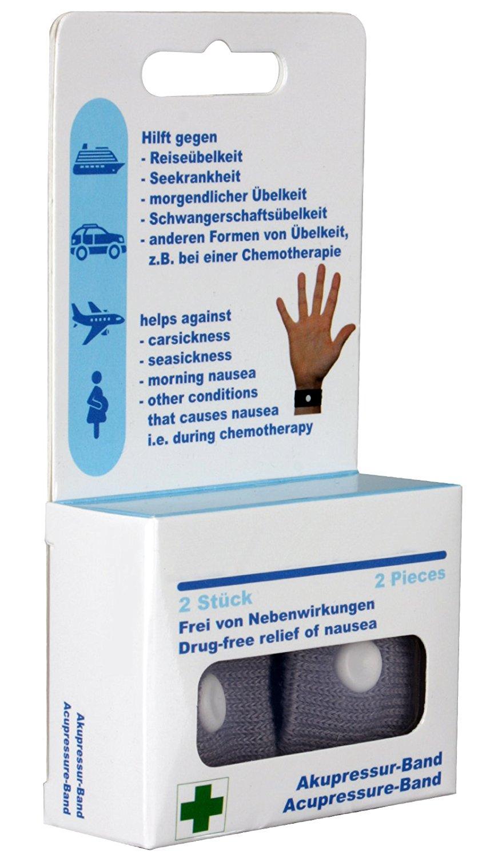 scarlet health 2 Stück Akupressurband für Erwachsene und Kinder, Akupressur (Grau)