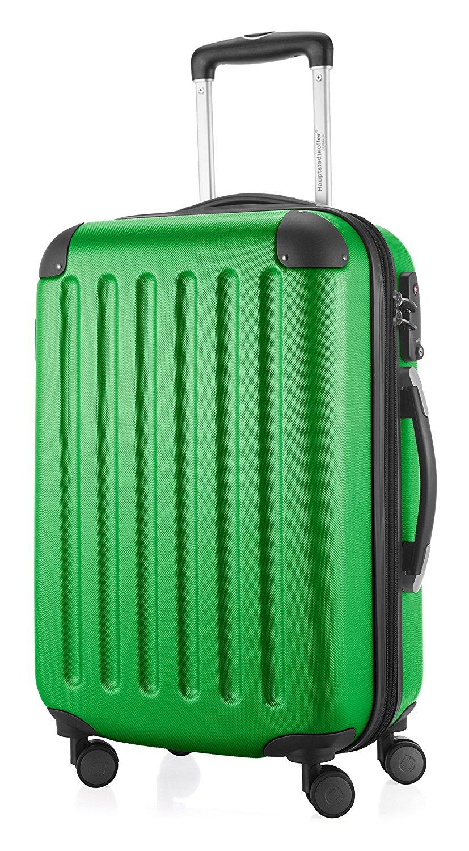 Hauptstadtkoffer - Spree - Handgepäck Hartschalen-Koffer Trolley Rollkoffer Reisekoffer Erweiterbar, TSA, 4 Rollen, 55 cm, 42 Liter, Grün