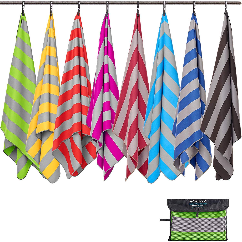 Fit-Flip Strandtuch XXL und Mikrofaser Badetuch groß und leicht – Mikrofaser Handtuch 200x100 & Microfaser Handtücher 160x80