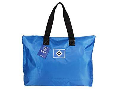 MarkenMerch Strandtasche Hamburger SV, 62 cm, Blau Mit Logo