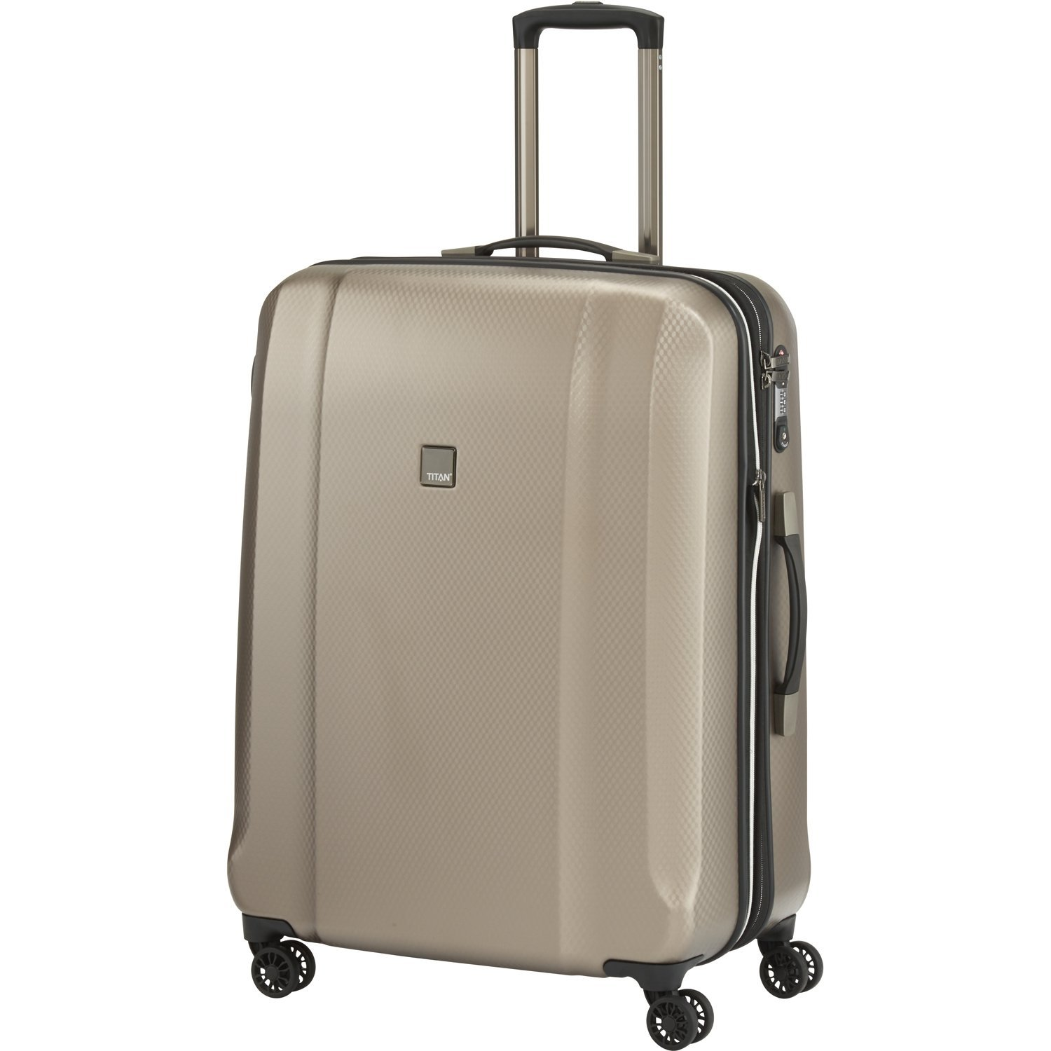 "TITAN Valise trolley ""Xenon Deluxe"" avec 4 roues champagne Koffer, 74 cm, 113 liters, Beige (Champagne)"