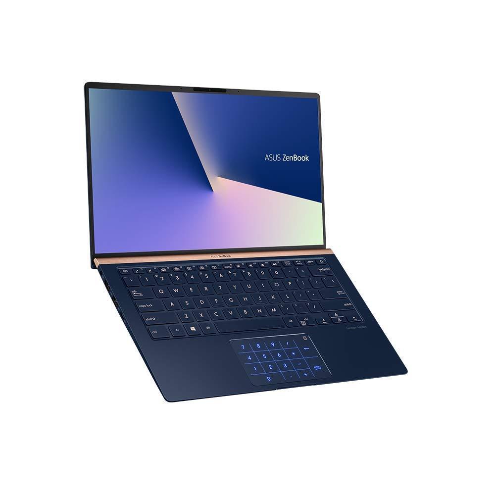 ASUS ZenBook 14 UX433FN (90NB0JQ2-M04820) 35,5 cm (14 Zoll, FHD, WV) Ultrabook (Intel Core i7-8565U, 16GB RAM, 512GB SSD, NVIDIA GeForce MX150 (2GB), Windows 10) Royal Blue