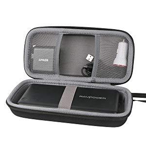 Hart Reise Schutz Hülle Etui Tasche für RAVPower 26800mAh Externer Akku Powerbank iSmart USB Ladegerät von CO2CREA (black)