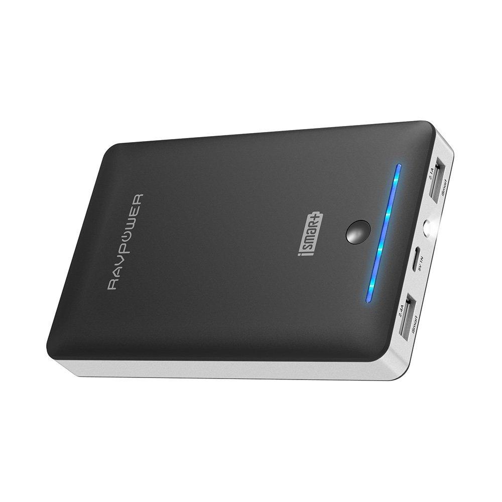 RAVPower 16750mAh Powerbank iSmart Externer Akku 4,5A Ausgang USB Ladegerät Kompatibel mit iPhone XS Max/XR/X / 8/8 Plus / 7 / 6s / 6, iPad, Galaxy S8 / S9 und Smartphone, Tablet usw
