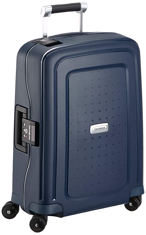 Samsonite Koffer Handgepäckkoffer S'cure Dlx Spinner 55/20, 55 cm, 34 Liter, midnight blue, 50919-1549