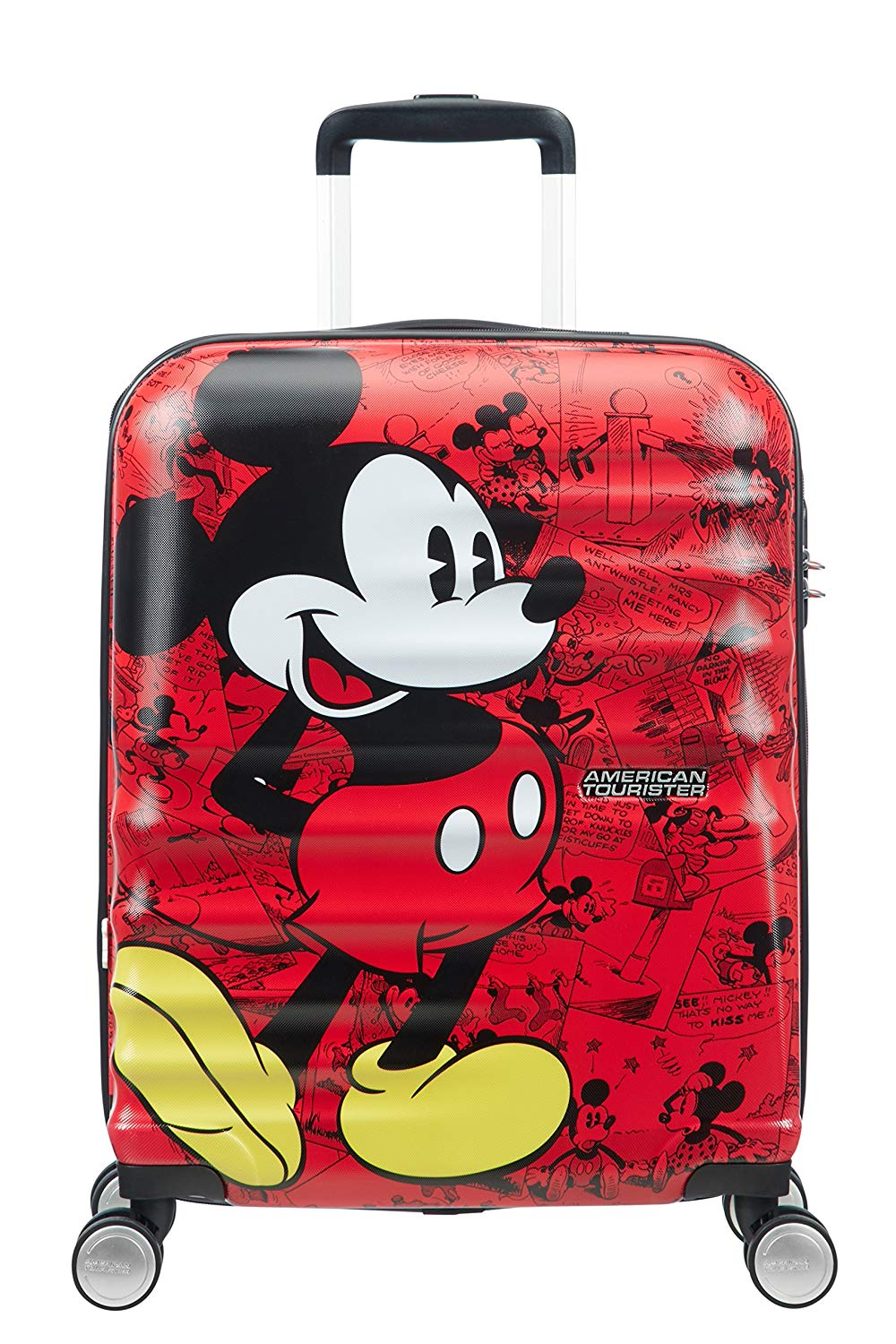 American Tourister - Disney Wavebreaker, Spinner-2.6 kg Kindergepäck, 55 cm, 36 L, Mickey Comics Red