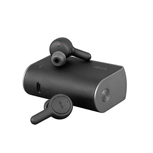 RHA TrueConnect - Kohlenschwarz: Wahre drahtlose Ohrhörer mit Bluetooth 5 und Schweißschutz für sportliche Aktivitäten