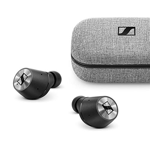 Sennheiser MOMENTUM True Wireless Bluetooth-Ohrhörer, Schwarz/Chrom