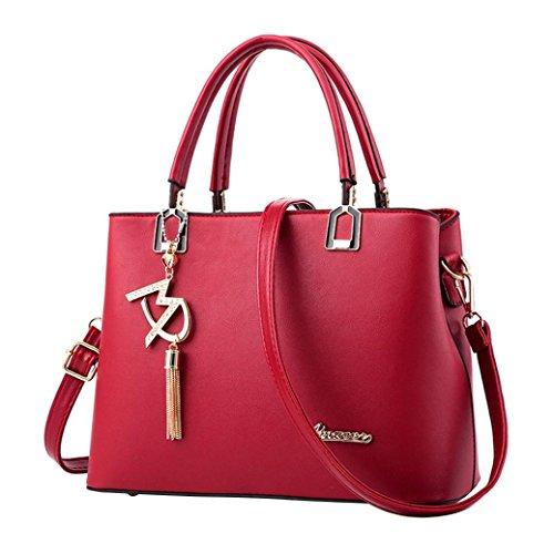 MOIKA Sale Günstig Elegante Stylische Damen Tasche einfache Handtasche Schultertasche große Tasche Umhängetasche(D,F)