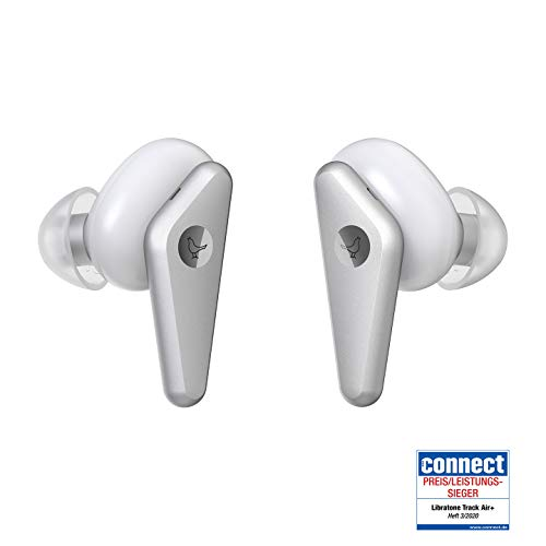 Libratone TRACK Air+ True Wireless In-Ear Kopfhörer smarter Geräuschunterdrückung (24h Akku – 6h Kopfhörer/18h Ladecase, ANC, schweiß-/spritzwasserschutz IPX4, Bluetooth 5.0) weiß