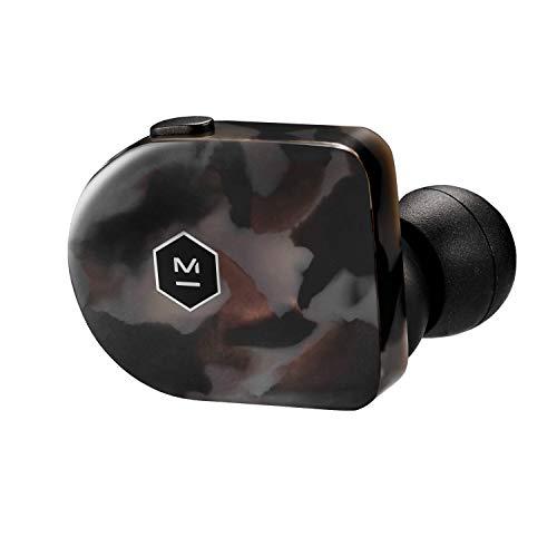 Master & Dynamic MW07GT True Wireless Kopfhörer (3,5h Akkulaufzeit pro Ladung, Edelmetall-Ladecase, IPX4) Grau Terrazzo
