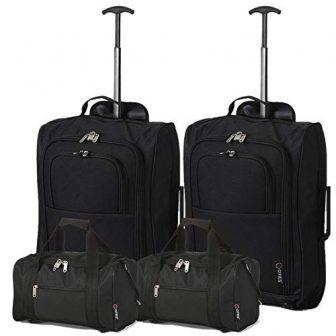2x Ryanair Kabinengepäck 55x40x20cm & 2x Reisetasche 35x20x20, Handgepäck Set - nehmen...