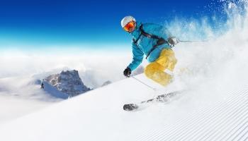 Skigebiet La Grave in den Alpen