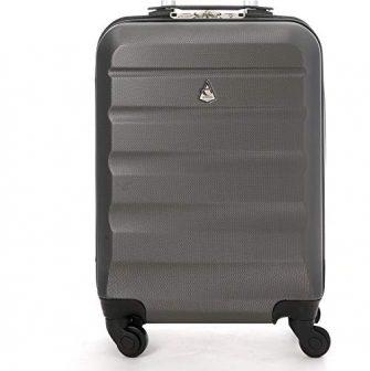 Aerolite Leichter ABS Hartschale 4 Rollen Handgepäck Trolley Koffer Bordgepäck Gepäck für...