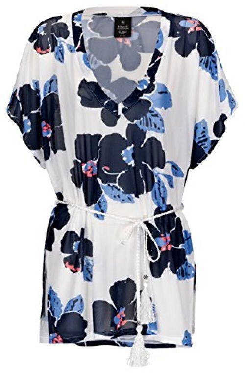 Bugatti® Damen Strandkleid/Tunika Tiziana mit attraktivem Blumenmuster, Größe L/XL