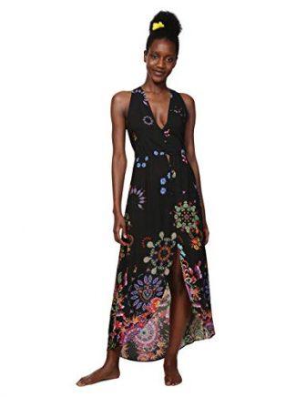 Desigual Damen Kleid Dress Swimwear Magda Woman Black, Schwarz (Negro 2000) Medium