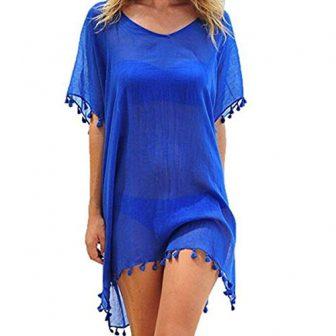 ECOMBOS Damen Strandkleid Bikini Cover Up Strandponcho Sommerkleid Sommer Bademode Strand Pareo...