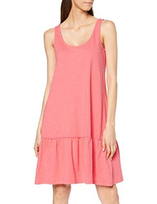 ESPRIT Damen 069EE1E009 Kleid, Rot (Coral 645), Small (Herstellergröße: S)