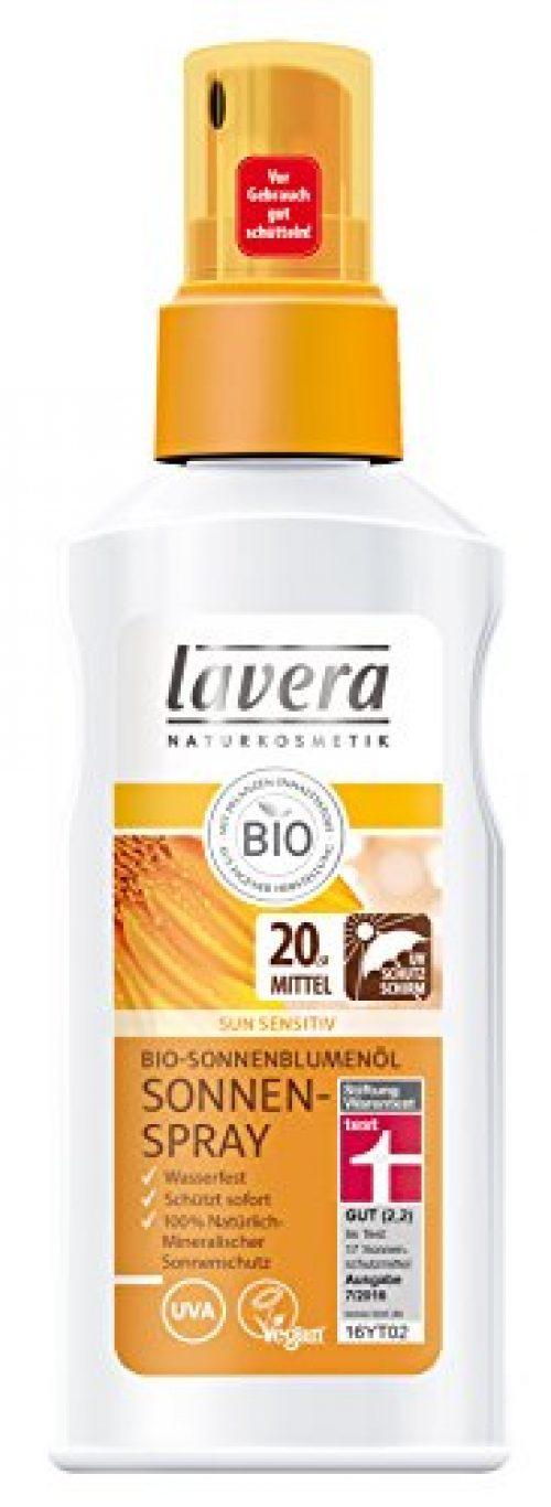 lavera Sun Sonnenspray LSF 20 UV Schutz ∙ Mineralischer Sonnenschutz ∙ Wasserfest ∙ Schützt sofort ∙ vegan ✔ Bio Pflanzenwirkstoffe...