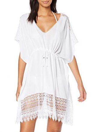 New Look Damen Crochet Insert 6275026 Strandkleid, Weiß (White 10), ((Herstellergröße: 52)