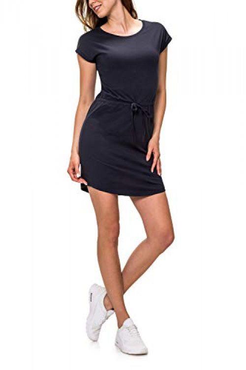 ONLY Damen Jerseykleid Freizeitkleid Sommerkleid Shirtkleid Print (S, Night Sky/Solid)