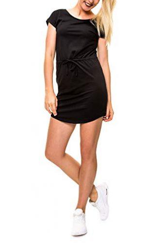ONLY Damen Shirtkleid Jerseykleid mit Print (XS, Black/Solid)