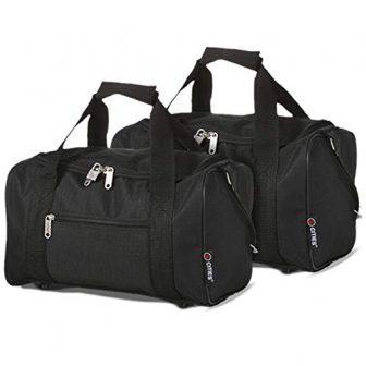Ryanair 20L Maximal Gräße des Handgepäck 40x25x20cm Bordgepäck Gepäck Tasche, 2X Schwarz