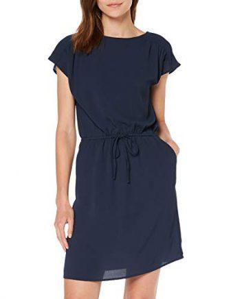 Vero Moda NOS Damen VMSASHA Bali S/S Short Dress Color Kleid, Blau...