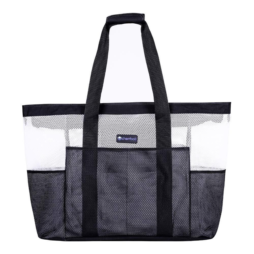 Sehr ger/äumige FAMILY BAG Tasche gro/ß in Schwarz inklusive abnehmbare Innentasche 55 x 18 x 40 cm